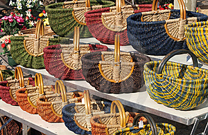 Baskets At A Market In Provence Stock Photo - Image: 14209340