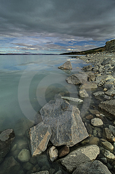 Lake Pukaki Shoreline Stock Photos - Image: 14209483