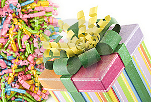 Birthday Present With Ribbons Stock Image - Image: 14209581