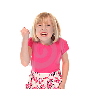 Young Little Girl Shouting Royalty Free Stock Photo - Image: 14210305