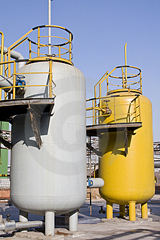 Gas Tanks Royalty Free Stock Photography - Image: 14210647