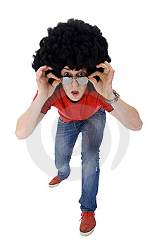 Astonished Casual Man Stock Photo - Image: 14213090