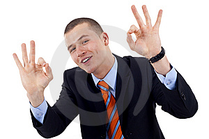 Man Giving OK Gesture Royalty Free Stock Photos - Image: 14213138