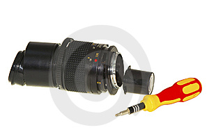 Dismantled Lens Royalty Free Stock Image - Image: 14213356