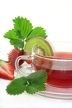 Strawberry Kiwi Tea Stock Photography