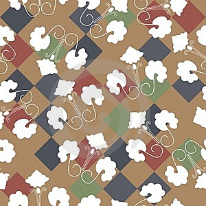 Seamless Floral Pattern Stock Images - Image: 14217284