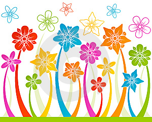 Floral Horizontal Seamless Background Stock Image - Image: 14217871