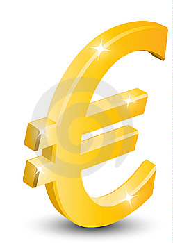 3D Gold Euro Sign Stock Photos - Image: 14220943