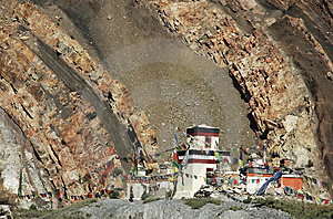 Tibetan Temple In Himalayas. Royalty Free Stock Image - Image: 14221226