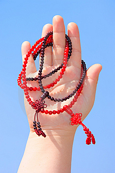 Prayer Beads In Her Hands Stock Photos - Image: 14221903