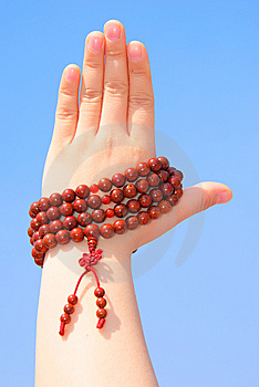 Prayer Beads In Her Hands Royalty Free Stock Photos - Image: 14222048