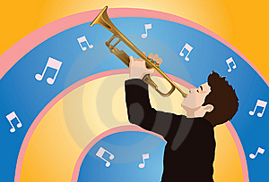 Playing The Trumpet Royalty Free Stock Photo - Image: 14222665