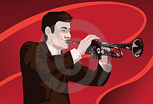 Living The Moment Playing The Trumpet Stock Image - Image: 14222671