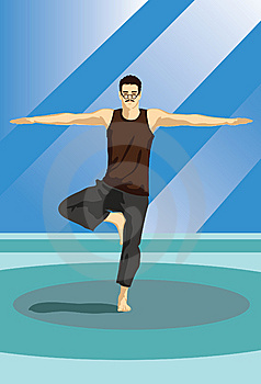 The Yoga Guru Stock Photography - Image: 14222682