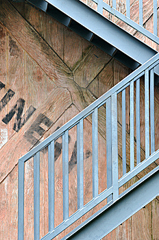 Stair And Wooden Background Royalty Free Stock Photo - Image: 14223105