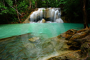 Erawan Waterfall Stock Photography - Image: 14226502