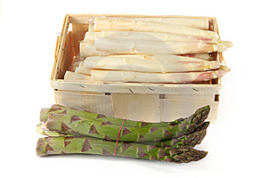Asparagus In Wooden Box Stock Photo - Image: 14228530