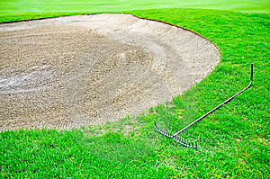 Golf Bunker Sand Royalty Free Stock Photos - Image: 14228888