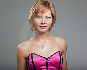 Young Woman Posing In Studio Stock Photos - Image: 14229423