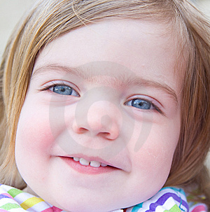 Portrait Of A Smiling Baby Girl. Royalty Free Stock Photos - Image: 14229478
