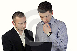 Two Businessmen Stock Photo - Image: 14229620