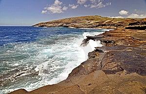 Lava Rock Shoreline Hawaii Royalty Free Stock Photo - Image: 14230045
