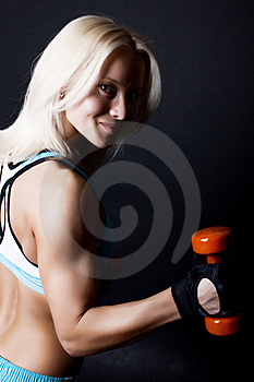 Cute Happy Sportswoman Stock Image - Image: 14230151