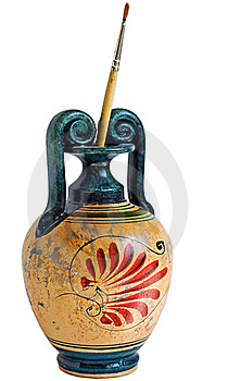 Replica Of Greek Vase Royalty Free Stock Images - Image: 14232139