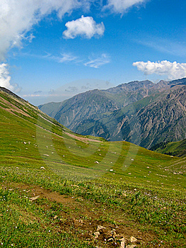 Mountains At Shymbulak Ski Resort Royalty Free Stock Photo - Image: 14232145