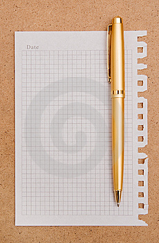 Note Paper And Pen Royalty Free Stock Photos - Image: 14232458