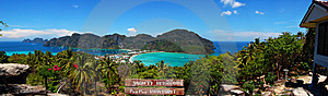 Phi Phi Panorama View Point Stock Photography - Image: 14232762