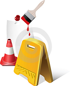 Caution Sign. Royalty Free Stock Image - Image: 14234106