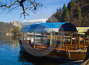 Alpine Lake With Rowing Boats Royalty Free Stock Images - Image: 14234659