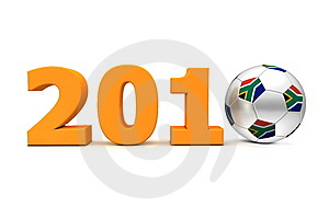 Football Year South Africa 2010 - Orange Stock Images - Image: 14235764