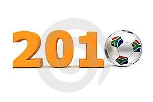 Football Year South Africa 2010 - Orange Stock Images - Image: 14235764