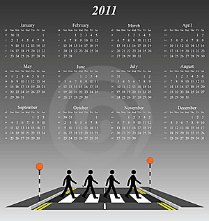 2011 Calendar Royalty Free Stock Photo - Image: 14237045