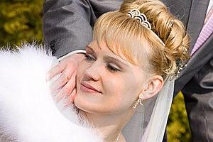 Beautiful Bride Is Looking Wedding Ring Royalty Free Stock Image - Image: 14238566