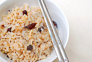 Cooked, Red Unpolished Rice Royalty Free Stock Image - Image: 14239266