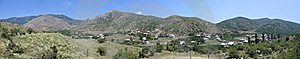 Panoramic View Of Hills Royalty Free Stock Image - Image: 14240876