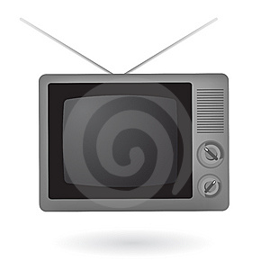 Isolated Vintage Television Royalty Free Stock Photography - Image: 14243107