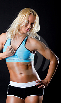 Sexy Fitness Instructor Stock Images - Image: 14243504