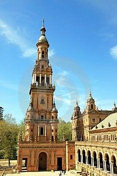 Sevilla, Plaza De Espana Palace Tower. Spain Stock Images - Image: 14243954