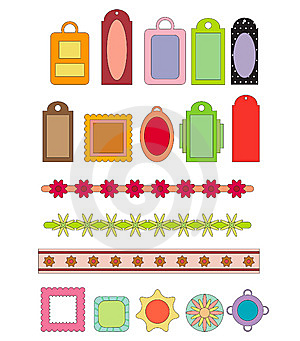 Scrap-booking Elements Royalty Free Stock Images - Image: 14244309