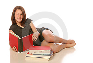 Teen Girl Studying Stock Image - Image: 14244571