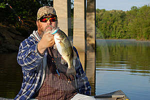 Fishing For Bass Royalty Free Stock Photography - Image: 14245487