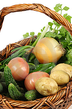 Fresh Vegetables In Basket Royalty Free Stock Images - Image: 14245789