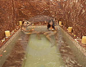 Two Girls In A Jacuzzi Stock Images - Image: 14246084