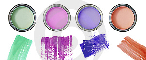 Cans And Color Painting Stock Photography - Image: 14247832