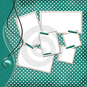 Congratulation Green Card With Sheets For Design Stock Photos - Image: 14248243