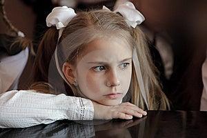 The Girl At A Grand Piano Royalty Free Stock Photo - Image: 14248885